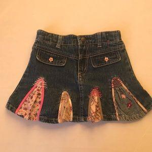 Other - Girls denim adjustable waist Skort